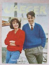 Jaeger Vintage Knitting Pattern-V-Neck Raglan Sweaters For Man & Woman