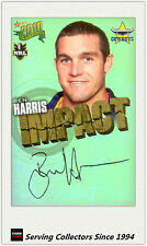 2010 Select NRL Champions Impact Foil Signature IS34 Ben Harris (Cowboys)