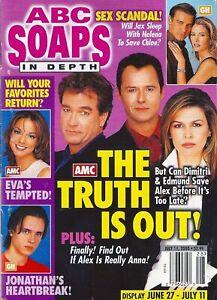 ABC SOAPS IN DEPTH July 11 2000 John Callahan Michael Nader Finola Hughes