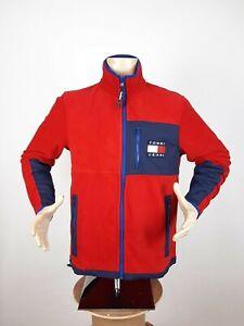 Tommy Hilfiger Jeans TJ 90s Polar Fleece Jacket Red Men's Size S Sweatshirt Rare