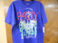 NEW MENS Wiz Khalifa party all day party all night SHORT SLEEVE T-SHIRT sz - LG