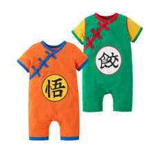 Toddler Kid Baby Boy Girl Goku Dumpling Jumpsuit Romper Short Sleeves Clothes