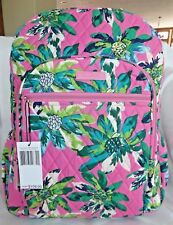 VERA BRADLEY Campus Backpack Book Bag - TROPICAL PARADISE Pink - New with Tag