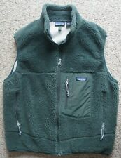Patagonia Men's Retro X Green Pile Fleece Full Zip Vest Jacket Made in USA Sz L