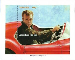 Tanzania Commemorative Souvenir Stamp Sheet - Hollywood Legend Actor James Dean