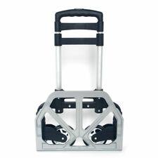 165lbs Cart Folding Dolly Push Truck Hand Trolley Luggage Aluminium Bungee Cord