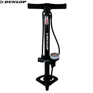 Dunlop Floor Bike Pump with Pressure Gauge Standpump Manometer 11Bar Black Air