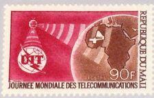MALI 1970 227 133 UIT ITU World Communication Year Satellite Map Africa MNH