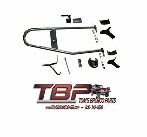 1966-1977 Early Ford Bronco Factory Tire Carrier Kit NEW TBP Exclusive!