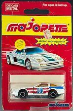 Majorette Die Cast #268 Chevrolet Corvette Turbo Racer White MOC Made In France