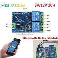 5V/12V 2CH Bluetooth Relay Module Smart Home Mobile APP Remote Control Switch AU