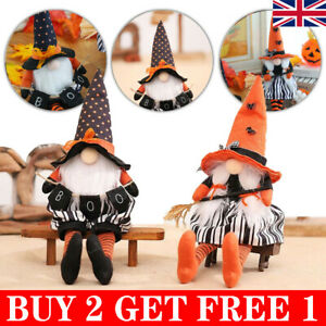 Halloween Faceless Gnome Gonks Doll Plush Ornaments Swedish Tomte Elf Decor UK