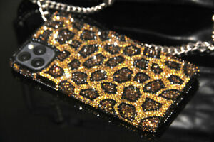 Bling Leopard Diamond Case Cover Fo iPhone 12 13 Pro Max With SWAROVSKI ELEMENTS