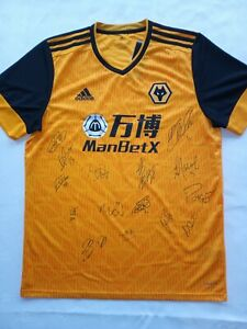 Wolverhampton Wanderers FC (The Wolves) Signed Team Shirt