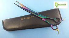 """Pet Dog Grooming Scissors Shears 10"""" Professional Japanese Stainless CURVED"""