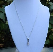 Morganite & Pink Tourmaline Sterling Silver Pendant with Chain