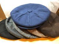 New Dobbs Small Apple Wellington NewsBoy Men's Wool Cap Made in U.S.A Snap Brim
