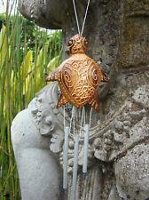 Carillon mobile tortue en bois et métal déco zen artisanat Indonésie Bali
