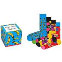 NEW HAPPY SOCKS Andy Warhol Multicolored 4PK Socks Gift Set - SALE