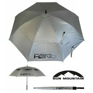 "Sun Mountain H2NO UV Golf Umbrella 68"" Dual Canopy Auto Open UPF50 UV Protection"