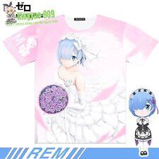 Re:ZERO Wedding Rem Anime Short sleeve T-Shirt Full Colour Unisex Tee Top #33