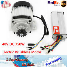 48V Dc 750W Electric Brushless Motor w Controller Diy Go-Kart Reduction 14 tooth