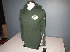 Nike Green Bay Packers Long Sleeve Hooded T-shirt Men S, L, XL, 2XL, 3XL  *NEW*