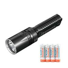 NITECORE EA42 1800 Lumen AA LED Searchlight Flashlight w/ 4x NiMH AA Batteries