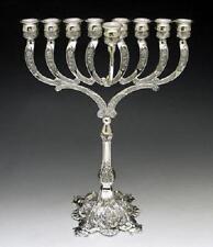 Silver Plated Chanukah MENORAH - - - - חנוכה מנורה jewish judaica metal hanukka