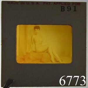 Naked Pinup Transparent Mail Order Slide 1950s Burlesque Girl Negative Erotica