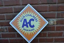 ALLIS - CHALMERS SIGN AC FARMING EQUIPMENT FARM EQUIPMENT METAL TRACTORS