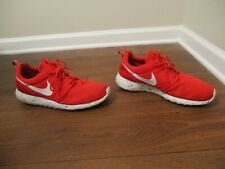 Used Worn Size 12 Nike Roshe Run Marble Shoes Red White Blue