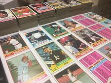 1976 Topps Baseball Card Lot of 600 All Different