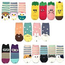 2-5 Pairs Women Low Cut No Show Fashion Cotton Socks Value Pack Size 9-11