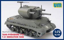 American Tank Destroyer T-31 М4А3 HVSS 1/72 Scale Plastic Model Kit UniModel 456
