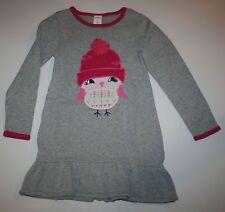 New Gymboree Gray Pretty Winter Bird Sweater Dress Size 6-12M NWT Snowflake Fun