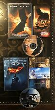 Batman Begins & The Dark Night Widescreen Edition+Insert DVD Collection Lot Set