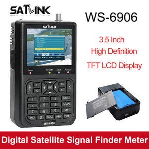 """Satlink WS-6906 Satellitensignalfinder-Empfänger-Messgerät DVB-S LCD 3,5 """"für TV"""