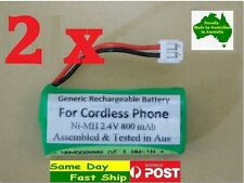 2 pcs Generic 2.4V Ni-MH replacement battery for Uniden XDECT R005 R035BT R055