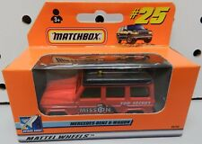 25 RED MERCEDES BENZ G WAGON SUV MISSION SPACE SHOT BOX 99 2000 MB MBX MATCHBOX