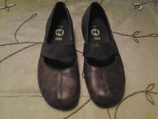 MERRELL Ortholite Brown Two-Tone Leather Mary Jane Velcro Air Cushion Shoes-Sz 7
