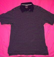 Navy/White Striped Adidas Polo Shirt | XL Men's | NEW
