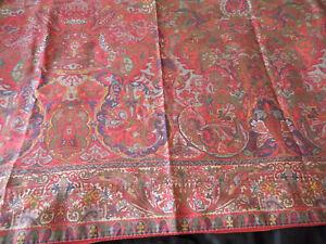 Ralph Lauren Galahad Queen Flat Sheet Galahad Medieval Red Green Blue Sateen