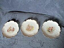 Lot de 3 anciennes assiettes en porcelaine de Limoges-décor anges-liserai or-D22