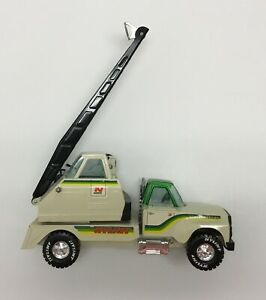 Vintage NYLINT Pressed Steel Road Builders Construction Crane Toy Truck Large