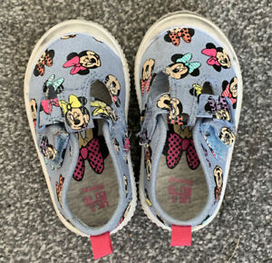 Minnie Mouse Blue Shoes Baby Girl Size 3 F&F
