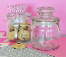 12 Mini Clear Glass Cookie Candy Jars Party Shower Reception Favors Bond