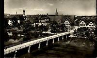 Rottenburg am Neckar Ansichtskarte 1961 gelaufen Teilansicht Neckarbrücke Häuser