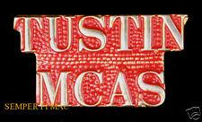 MCAS TUSTIN SCRIPT LAPEL HAT PIN UP US MARINES BLIMP HANGAR 3D MAW MAG 16 HELO