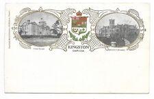 Patriotic and Heraldic Postcard KINGSTON ONTARIO Court House, Queens University